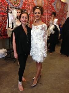 Backstage Cairo robe Flore Cape Hélium