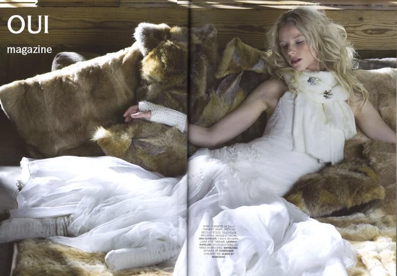 Robe Colombe- Oui magazine