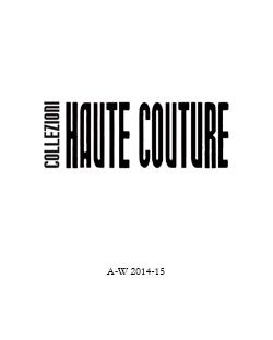 Collezioni haute couture 2
