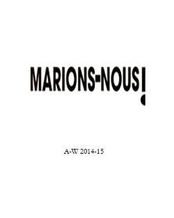 Marions-Nous