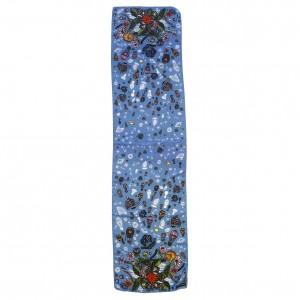 Écharpe Bouquet Astral Bleu à plat